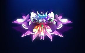 Картинка цветок, граффити, крылья, лепестки