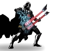 Картинка сила, молния, гитара, darth vader, power, Guitar, дарт вейдер, lighting, SITH Happens