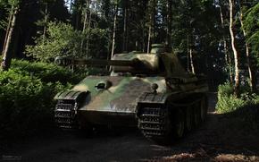 Обои вторая мировая война, военная техника, танк, пантера