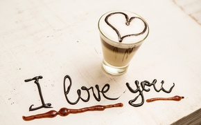 Картинка любовь, сердце, кофе, love, I love you, heart, romantic, coffee