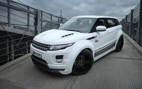 Картинка car, машина, white, Land Rover, Range Rover, ракурс, Evoque, Prior-Design, PD650