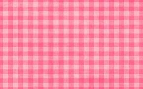 Обои розовая, текстура, белая, скатерть, в клеточку