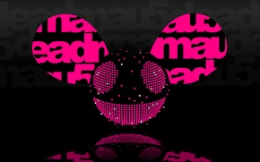 Картинка Музыка, Улыбка, Фон, Логотип, Electro House, Deadmau5, Мышь, Progressive House, Дэдмаус, Уши