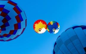 Картинка небо, полет, воздушный шар