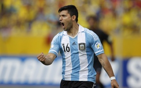 Картинка футбол, Аргентина, football, forward, goal, Агуэро, Manchester City, Kun, Aguero