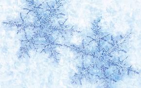 Картинка зима, снег, снежинки, новый год, рождество