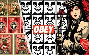 Картинка стиль, китаянка, obey