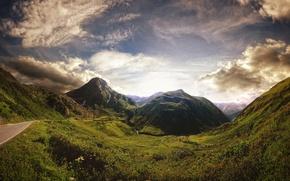 Обои швейцария, The Old Furka Pass, альпы