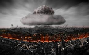 Картинка город, разрушение, Ядерный взрыв, atomic bomb