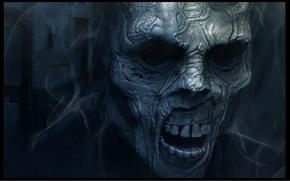 Картинка страх, череп, зомби, Смерть, ужас, нежить, кошмар, мертвец