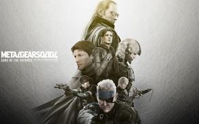 Картинка Solid Snake, Raiden, Jack the Ripper, Guns of the Patriots, Metal Gear Solid 4, Liquid …