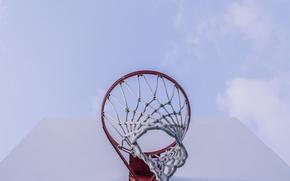 Картинка сетка, кольцо, щит, баскетбол