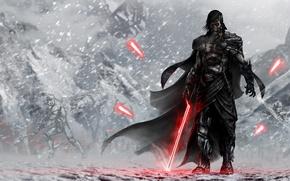 Картинка star wars, stormtrooper, lightsaber, sith, lord, Star Wars: The Force Awakens, Звёздные войны: Пробуждение силы