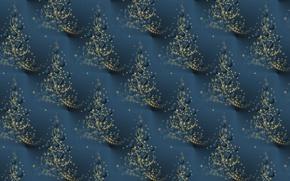 Картинка Новый год, фон, текстура, праздник, ёлочка, шарики