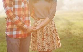 Картинка девушка, солнце, любовь, фон, widescreen, обои, настроения, женщина, руки, пара, wallpaper, мужчина, парень, поддержка, широкоформатные, …