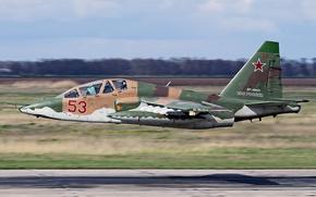 Картинка ОКБ Сухого, Frogfoot, ВВС России, Су-25УБ, двухместный штурмовик, Учебно-боевой, российский фронтовой штурмовик