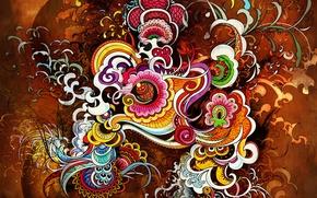 Обои Яркий, Абстракция, Цвета, Дизайн