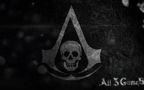 Картинка череп, флаг, символ, ассасины, Assassin's Creed IV: Black Flag