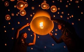 Картинка праздник, floating lamp, Yeepeng festival