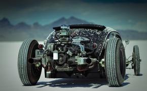 Картинка двигатель, мощь, hot rod, соль, хот род, соляное озеро, Custom Classic Car