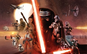 Картинка Boys, The, Finn, Force, Sword, StarWars, Warriors, Wallpaper, Laser, Walt Disney Pictures, Girls, Chewbacca, Flametroopers, ...