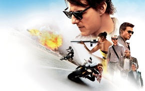 Картинка постер, Том Круз, Tom Cruise, Jeremy Renner, Simon Pegg, Ethan Hunt, Mission: Impossible - Rogue ...