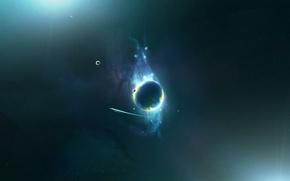 Картинка космос, планета, спутники