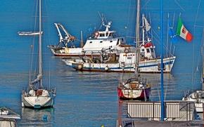 Картинка море, лодка, яхта