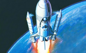 Картинка космос, шаттл, космический корабль, Space Shuttle, Спейс Шаттл