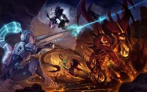 Картинка WoW, World of Warcraft, diablo, Sylvanas Windrunner, StarCraft, Sylvanas, Heroes of the Storm, Nova Terra