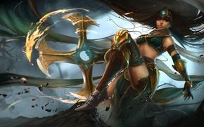 Картинка девушка, оружие, арт, League of Legends, LoL, Sivir, Harpiya