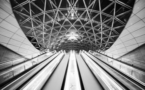 Картинка потолок, архитектура, эскалаторы, by Robin De Blanche, авторская работа, Archangel