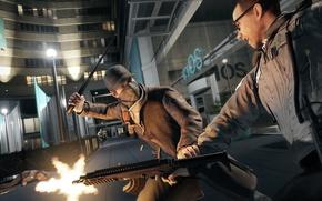 Картинка пистолет, улица, драка, кепка, переулок, Ubisoft, watch dogs
