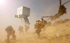 Обои война, военные, картонный человечек