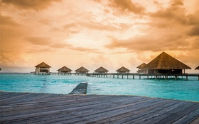 Обои maldives, caribbean, lagoon, ocean, sea, beach, sunset, море