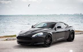 Картинка Aston Martin, wheels, DB9, black, Forgiato