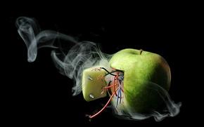 Картинка apple, electricity, short circuit