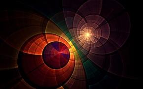 Картинка свет, круги, узор, цвет, текстура