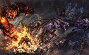 Картинка Heroes of the Storm, sarah kerrigan, Crusader of Zakarum, warcraft, diablo, Stitches, Abathur, Anub'arak, starcraft, ...