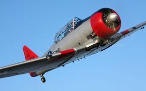 Картинка самолет, ВВС, North American, T-6 Texan, military historical club, времен второй мировой войны, легкий тренировочный …