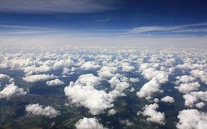 Обои облака, небо, синий, высота