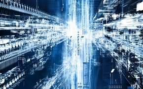 Обои база-данных, техно, поток