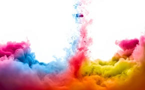 Картинка краски, дым, яркость