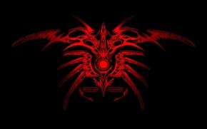 Картинка красный, орнамент, узор, чёрный, симовол