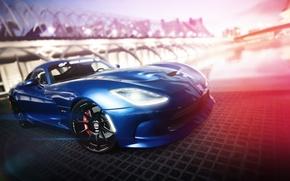 Картинка синий, Dodge, Viper, додж, вайпер, blue, гран туризмо, SRT, PlayStation, Gran Turismo 6, GT6