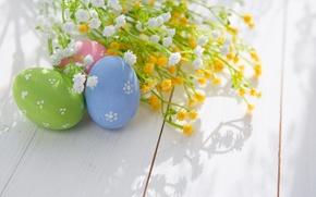 Картинка Пасха, Яйца, Доски, Праздник