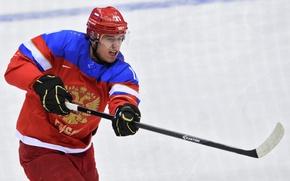 Картинка хоккей, хоккеист, бросок, Евгений Малкин, РОССИЯ, XXII Зимние Олимпийские Игры, Sochi 2014, СОЧИ 2014