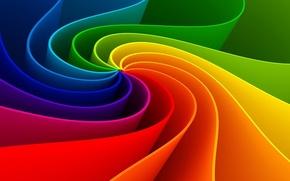 Картинка линии, краски, радуга, изгиб, разноцветный