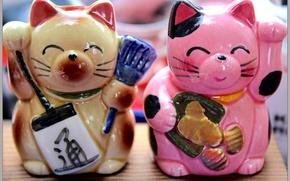 Картинка кошки, талисман, Japan, манэки-неко