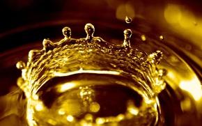 Картинка вода, желтый, капля